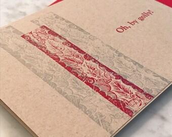 Holly jolly! Letterpress Christmas Card