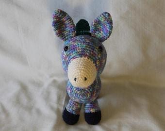 Handmade Amigurumi Crochet Eduardo the Donkey