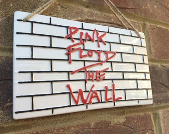 PINK FLOYD-The wall, Music Sign,Wall Plaque,British Bands, Pink Floyd Gifts,Gifts for him,British Bands,Wall Art,Hand Painted,Music Gifts