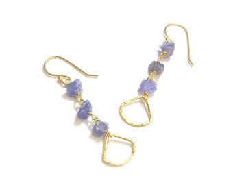 Vermeil and Tanzanite earrings