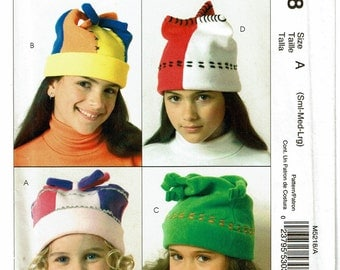 McCalls Pattern 5218 Children's Hats size A (SML-LRG) UNCUT