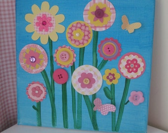 Flower Canvas Art, DIY Craft Party, Party Supplies
