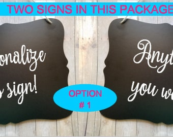 2 Personalized Wedding Signs - 1 Side or 2 - Ring Bearer - Groom - Bride - Wedding Decor - Flower Girl Ring Bearer Sign - Make It Yours!
