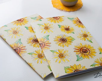 Sunflowers Notebook with 40 blank pages