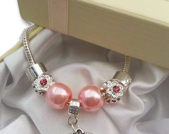Girls Charm Bracelet Best Friend Birthday Party Xmas Present Gift with gift box