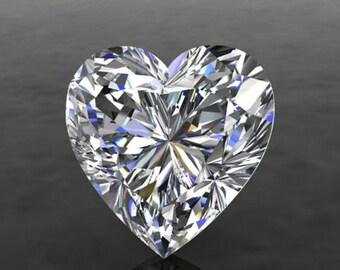 SUPERNOVA HEART Shape Moissanite Loose Gemstones Colorless Heart Cut Moissanite Large Sizes Moissanite Engagement Rings Diamond Alternative