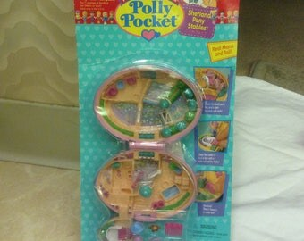 Vintage Polly Pocket Shetland Pony Stables Compact New in Package