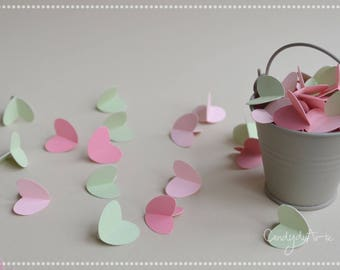 Heart Confetti-Table decoration-Paper Hearts-table decoration ideas-embellishments