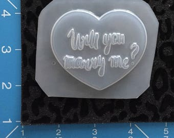 Will you Marry Me Heart Mold
