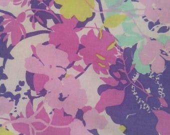 100% Cotton - Lavender Floral Fabric - Floral Fabric - Quilting Fabric - Quilting Cotton - Fabric by the Yard - Purple Floral Fabric