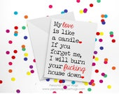 Funny Long Distance Relationship Card - Funny Long Distance Love Card - Funny Anniversary Card - Funny I love you card