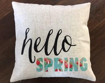 Hello spring-pillow cover