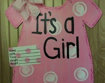 Its a girl hospital door hanger