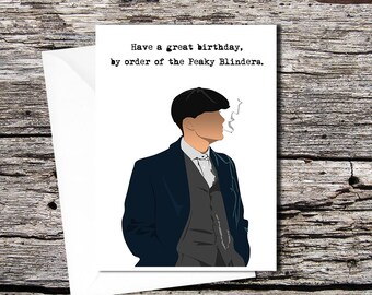 Peaky Blinders high quality greetings card (A5 folds to A6)