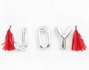 JOY Balloons - gold mylar foil letter balloon banner kit
