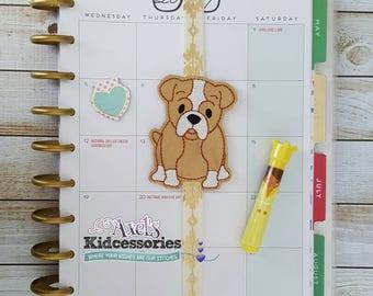 Bookmark - Boxer Dog Elastic Bookmark - Dog Lover Bookmark - Boxer Mom Planner Band - Boxer Dog - Planner Accessories