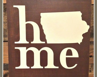 Home State Wood Sign