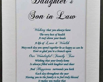 Wedding Gifts For Daughter And Son In Law : son and daughter in law daughter and son in law daughter son 9 99