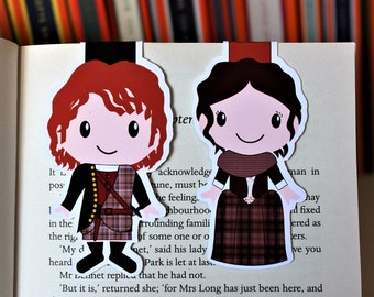Set of Claire and Jamie Bookmarks | Outlander