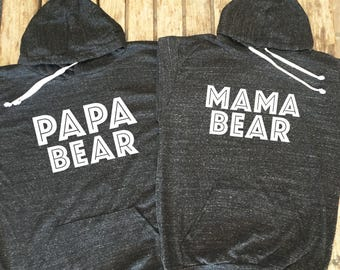Mama Bear and Papa bear hoodie bundle. Mama bear hoodie. Papa Bear Hoodie made by thinkelite1