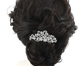 Crystal Wedding Hair Comb, Bridal Veil Comb, Crystal Bride Headpiece, Glam Wedding Hair Jewelry, Rhinestone Bridal Comb, Crystal Hair Pin