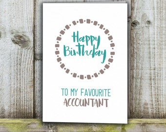 Accountant Birthday card, favourite accountant funny card