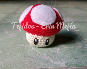 Little mushroom from Mario Bros. Amigurumi | Snowman tissue to Crochet