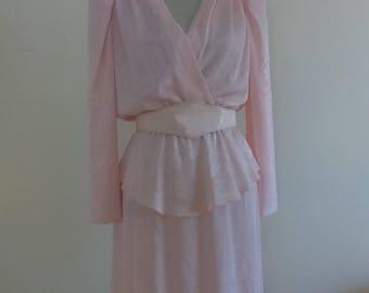 Vintage 1980's Light Pink Dress.  Gorgeous!