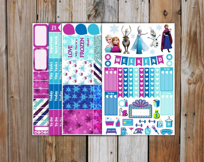 Frozen Planner Sticker MINI Kit | Planner Stickers Kit for use with ERIN CONDREN Life Planner