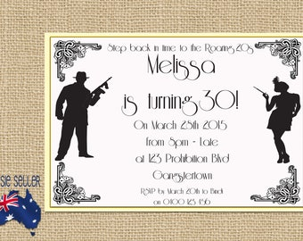 Roaring 20s Printable Invitation