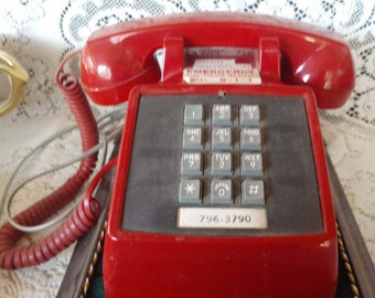 Vintage 1978 Stromberg-Carlson Red Push Button Phone