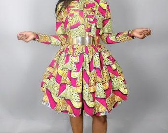 NEW IN African print dress,women dresses,wax print,African wax print dress