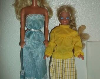 Vintage Mattel Barbie & Skipper NICE!