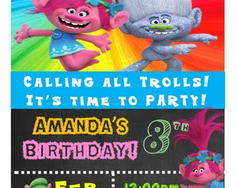 Poppy Trolls Invitation 3