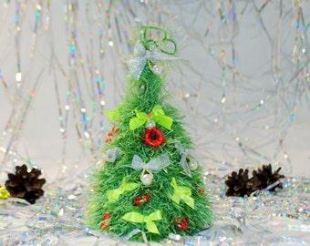 Christmas tree ornaments Office decor Christmas decor Coworker gift Tree decor Christmas stocking Crochet Knitted Home decor Retirement gift