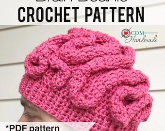 Brain Beanie Crochet Pattern