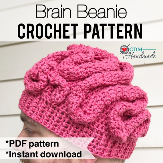 Crochet Free Pattern Promotion Shop For Promotional: Brain Beanie Crochet Pattern
