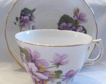 English Bone China Tea Cup and Saucer