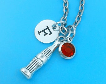 Soda bottle necklace, personalized necklace, Soda bottle charm necklace, initial necklaces, pop bottle charm, bottle pop, pop bottle pendant