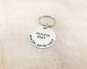 Father's Day Keychain - Personalized Dad Keychain - Father's Day - Dad Gifts