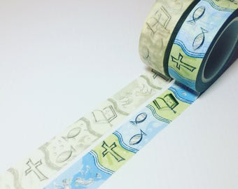 Religious, Christian, Jesus Washi Tape, Full Roll and Samples