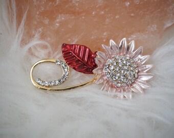 Flower Brooch, Flower Pin, Enamel Brooch