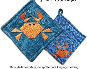 Little Crabby Pot Holder