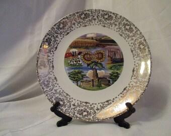Vintage Kansas State Decorative collectible plate