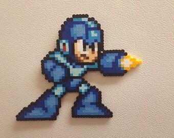 Mega Man, Perler, pixel art, blue bomber, beads, retro, snes, 8 bit, video game wall art, video game decor, zero, sigma