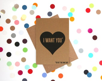 Funny Valentine Card: I want you to put the bins out, Funny Valentines Card, Funny love card, Husband Valentines day card, funny card