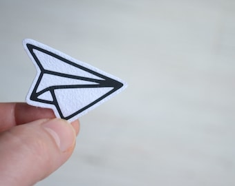 paper plane iron on patch