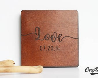 3rd anniversary gift for her coasters 3 years anniversary gift leather anniversary