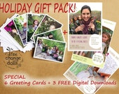 HOLIDAY GIFT PACK Set of 6 Tree Change Dolls® greeting cards, plus 3 free digital downloads including 'Guide to Re-styling Dolls'