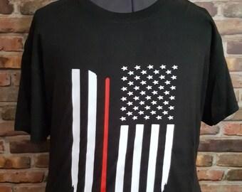 Hockey stick with USA Flag